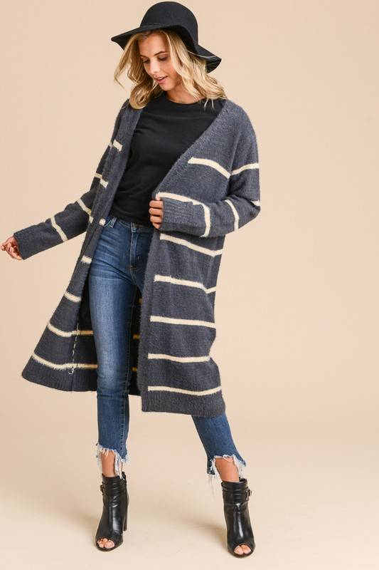 Stripe Pocket Cardigan