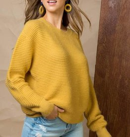 Mustard Ribbed Sweater