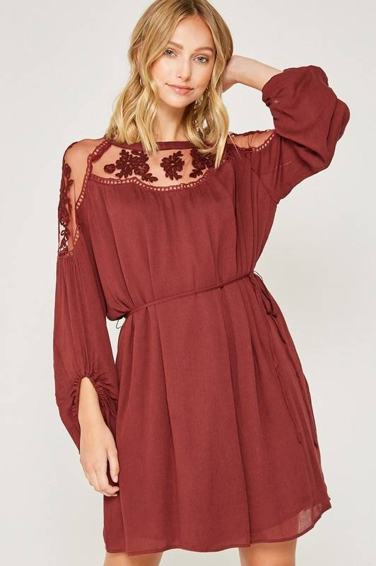 Lace Peasant Dress
