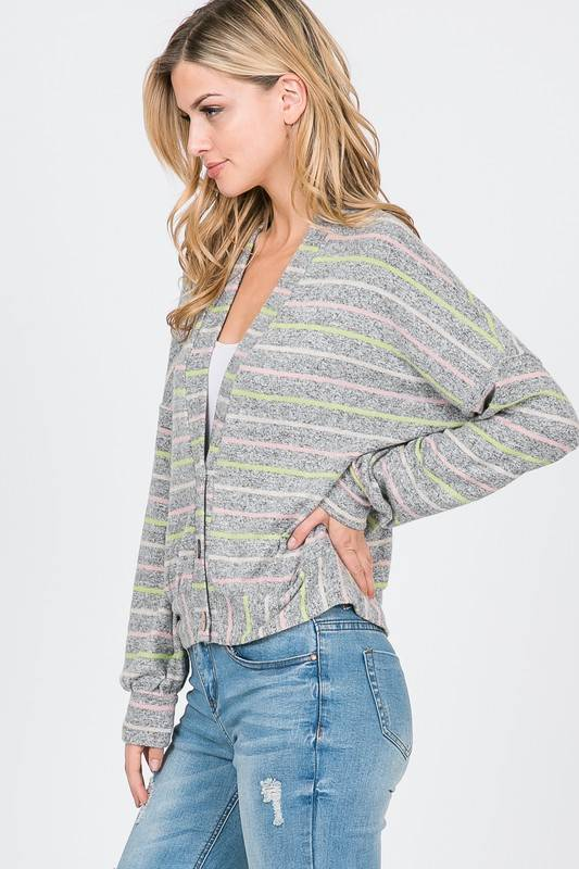 Multi Color Stripe Cardigan