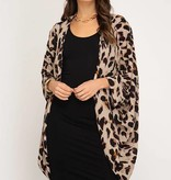 Pintuck Leopard Kimono