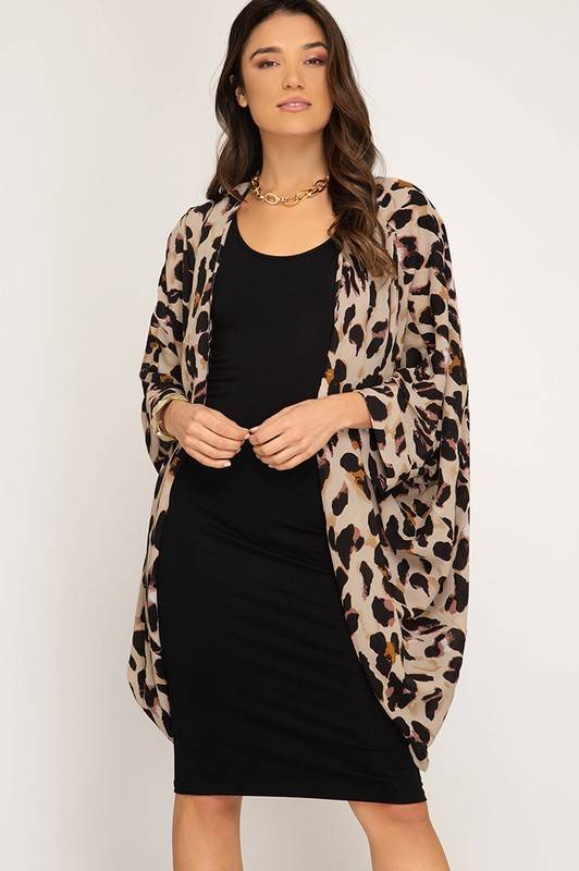 09430895a2f4 Pintuck Leopard Kimono - FerneBoutique