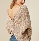 Multi Color Knot Back Sweater
