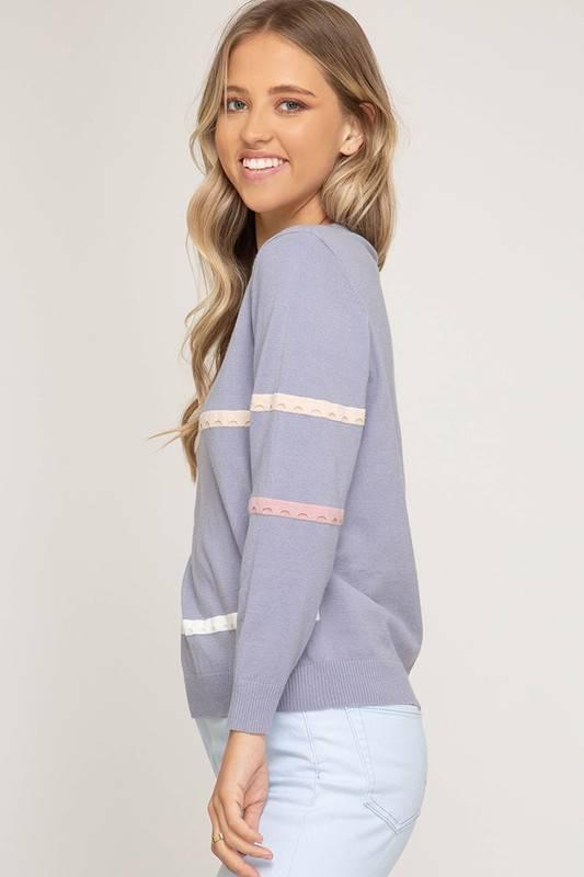 Irregular Striped Sweater