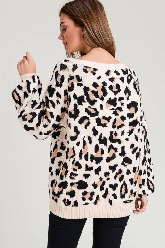 Leopard Bubble Sleeve