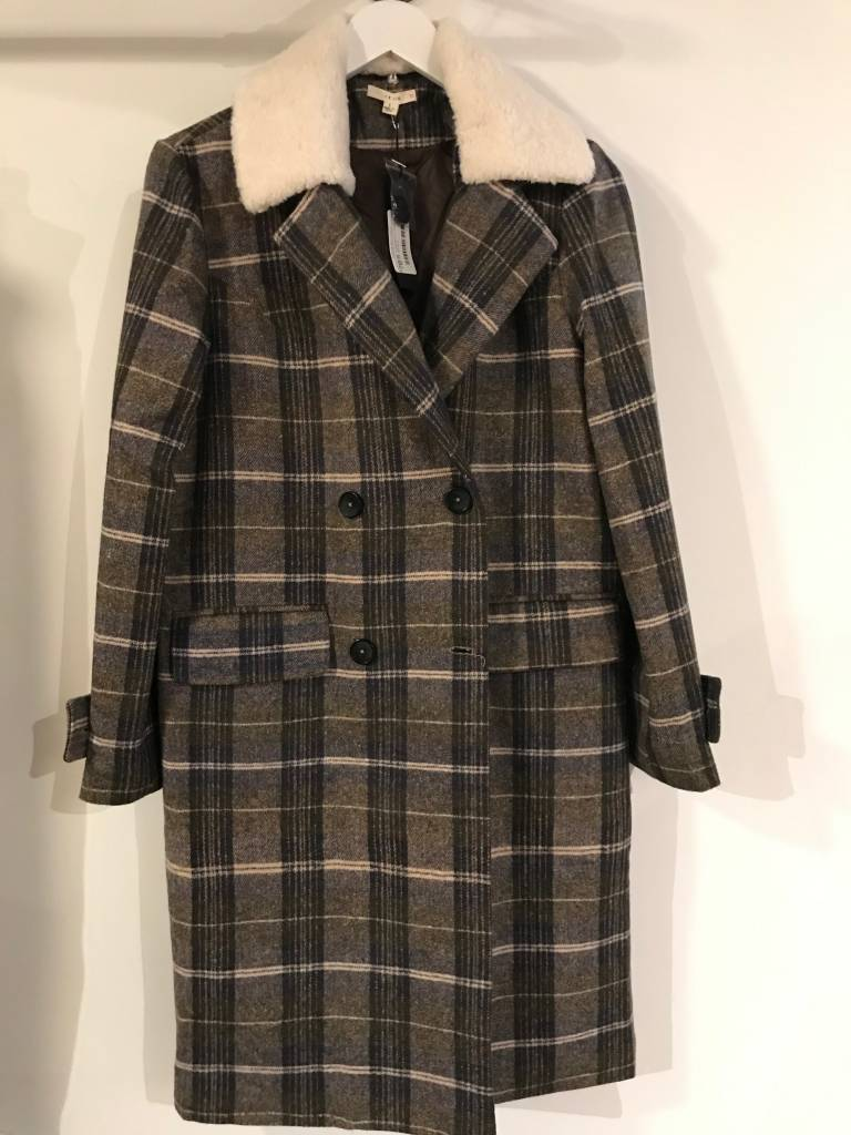 Longline Fur Collar Coat