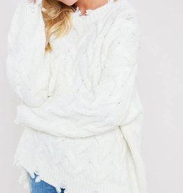 Distressed Oversize Sweater