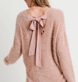 Tied Back Soft Sweater