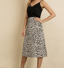 Cheetah Satin Skirt