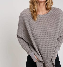 Slouchy Waffle Top