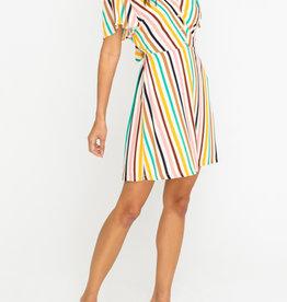 Open Back Stripe Dress