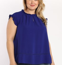 Frilled Cap Sleeve Top
