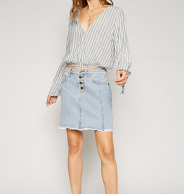 Emmy Raw Hem Skirt