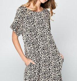 Leopard Box-Cut Dress