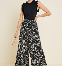Dotted Wide-Leg Pant