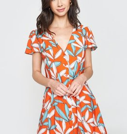 Tropical Floral Flare Dress