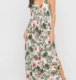 Floral Side Slit Maxi Dress