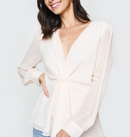Deep V Peplum Top