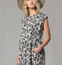 Leopard Slouchy T-Shirt Dress