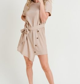 Button Dress Taupe