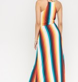 Rainbow Side Tie Maxi
