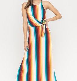 Rainbow Side Tie Maxi