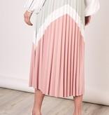 Chevron Pleated Skirt
