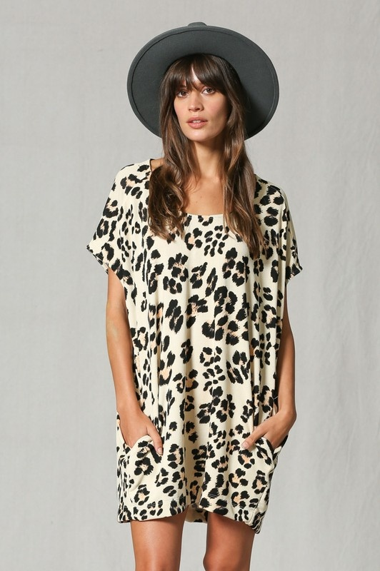 Oversized Leopard Tunic