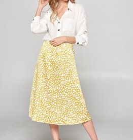 Satin Printed Skirt