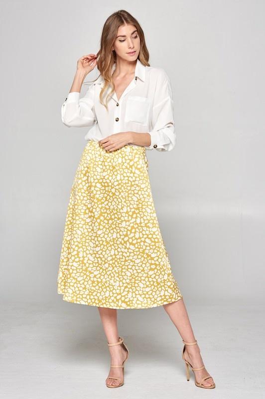 Satin Printed Skirt