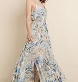 Blue Rose Maxi Dress