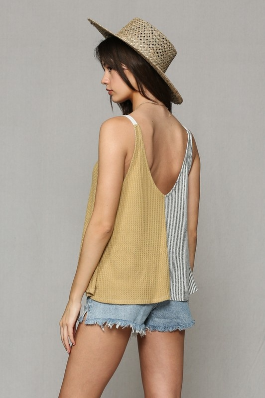 By Together Two Tone Hacci Tank