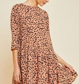 Asymmetric Dotted Swing Dress