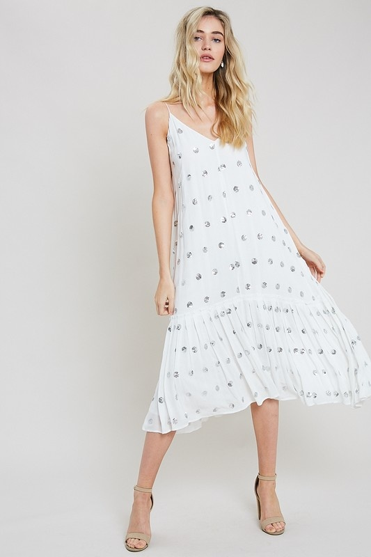 Wishlist Sequin Polka Dot Midi