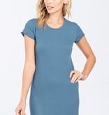 Scallop Trim Shirt Dress