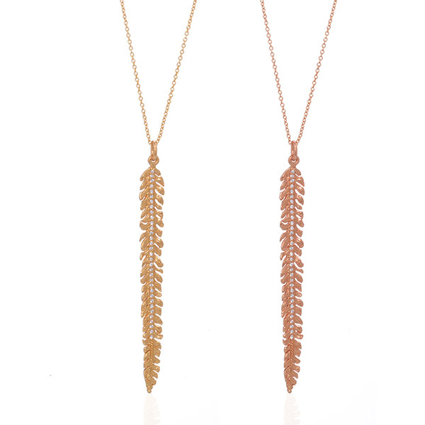 Scale Feather Necklace