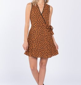 Everly Spotted Wrap Dress