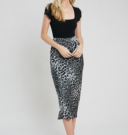 Wishlist Leopard Satin Skirt