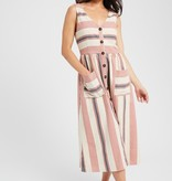 Wishlist Stripe Button Front Dress