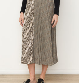 Mystree Mixed Print Skirt