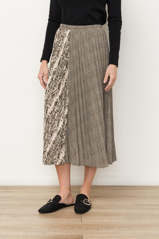 Mystree Mixed Print Skirt