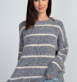 Dreamers Pin Stripe Teddy Sweater