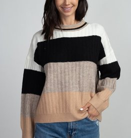 Dreamers Multi Color Stripe Sweater