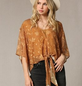 By Together Satin Lace Detail Blouse
