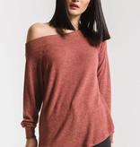 Z Supply Marled One Shoulder Sweater