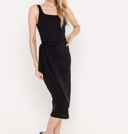 Lush Ribbed Wrap Dress