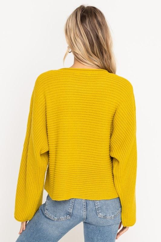 Lush Wide Sleeve Sweater