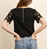 Dress Forum Short Sleeve Lace Top