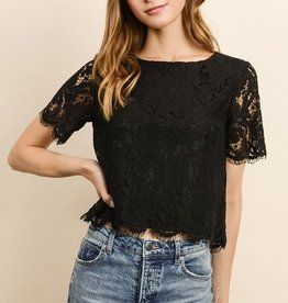 Dress Forum Short Sleeve Lace Top