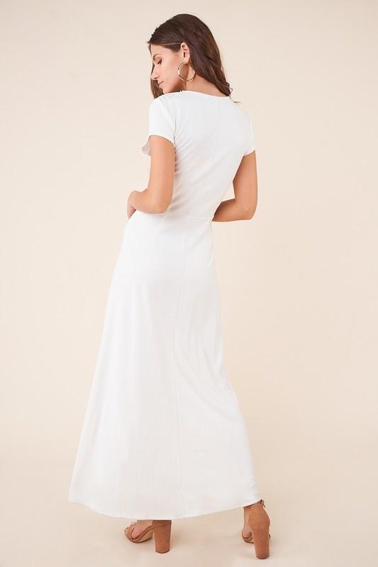 SugarLips Button Front Midi Dress
